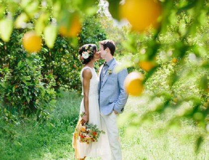 Lemon themed wedding on the Amalfi Coast
