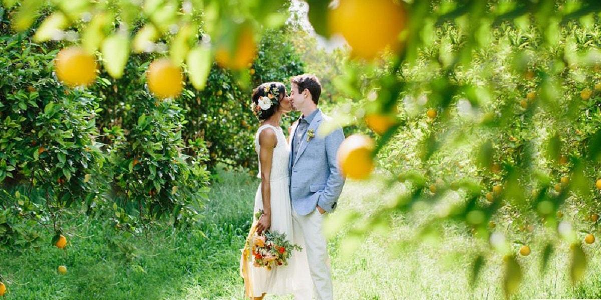 Lemon themed wedding on the Amalfi Coast