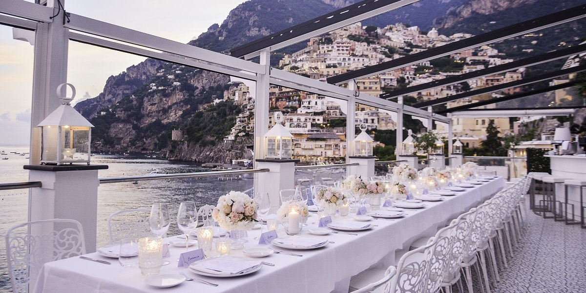 Rada Restaurant. Positano. Wedding Planner in Amalfi Coast and Puglia. Mr and Mrs Wedding in Italy
