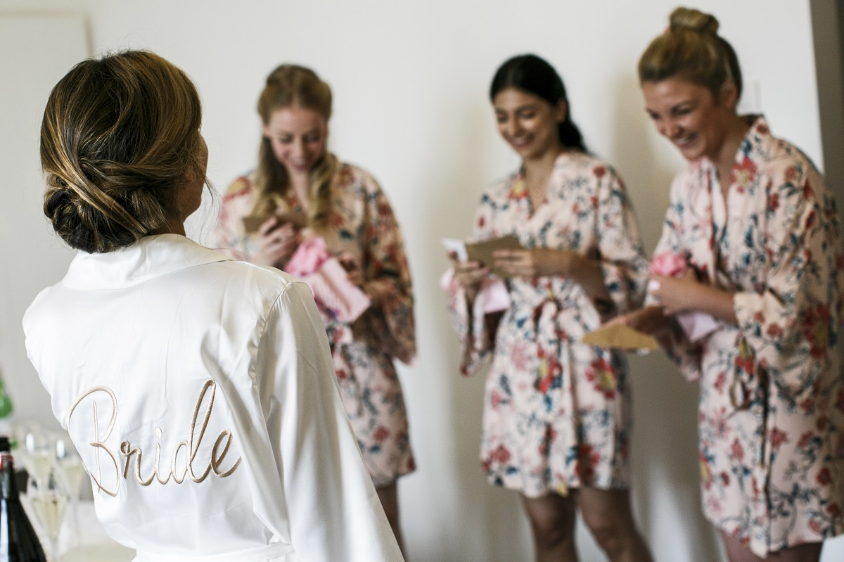 Isabella and Peter Wedding in Amalfi - bride and bridesmaids
