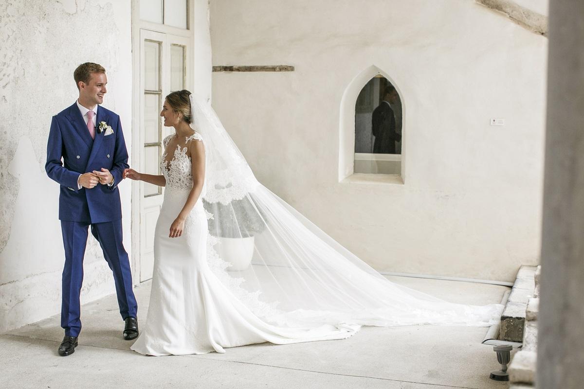 Isabella and Peter Wedding in Amalfi groom and bride wedding photo