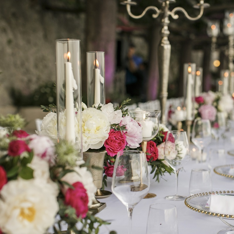 Isabella and Peter Wedding in Amalfi imperial table detail