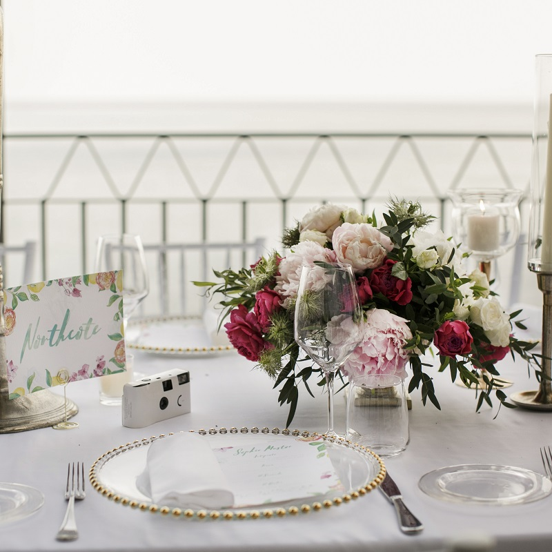 Isabella and Peter Wedding in Amalfi reception table detail