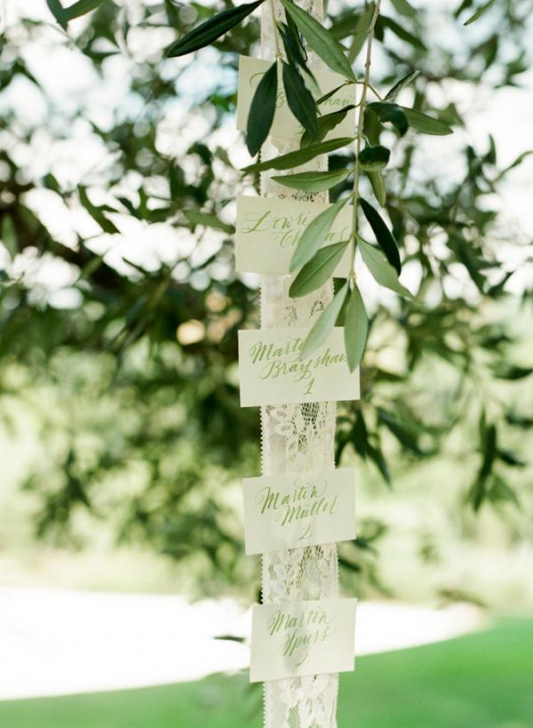 Olive-themed wedding - tableau mariage
