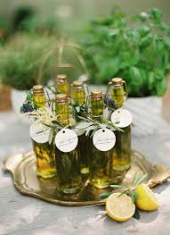 Olive-themed wedding - wedding favors