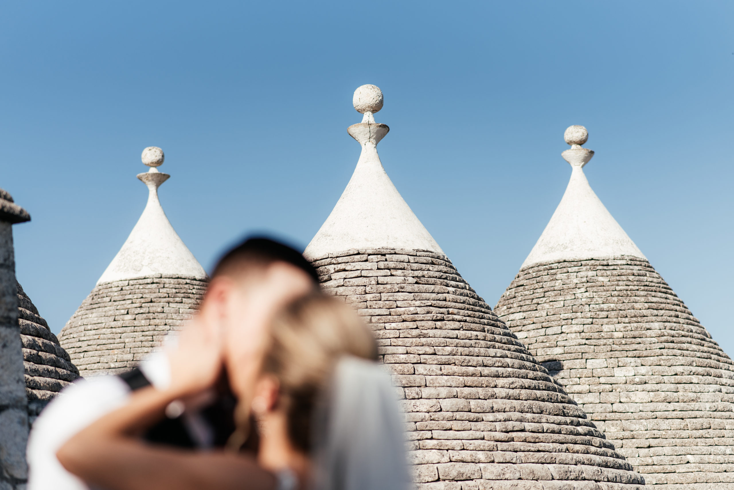 Amanda and Marcus among trulli in Apulia