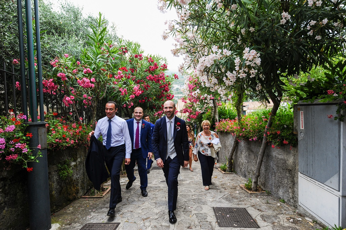 Andrea the groom and the best men - Ravello wedding