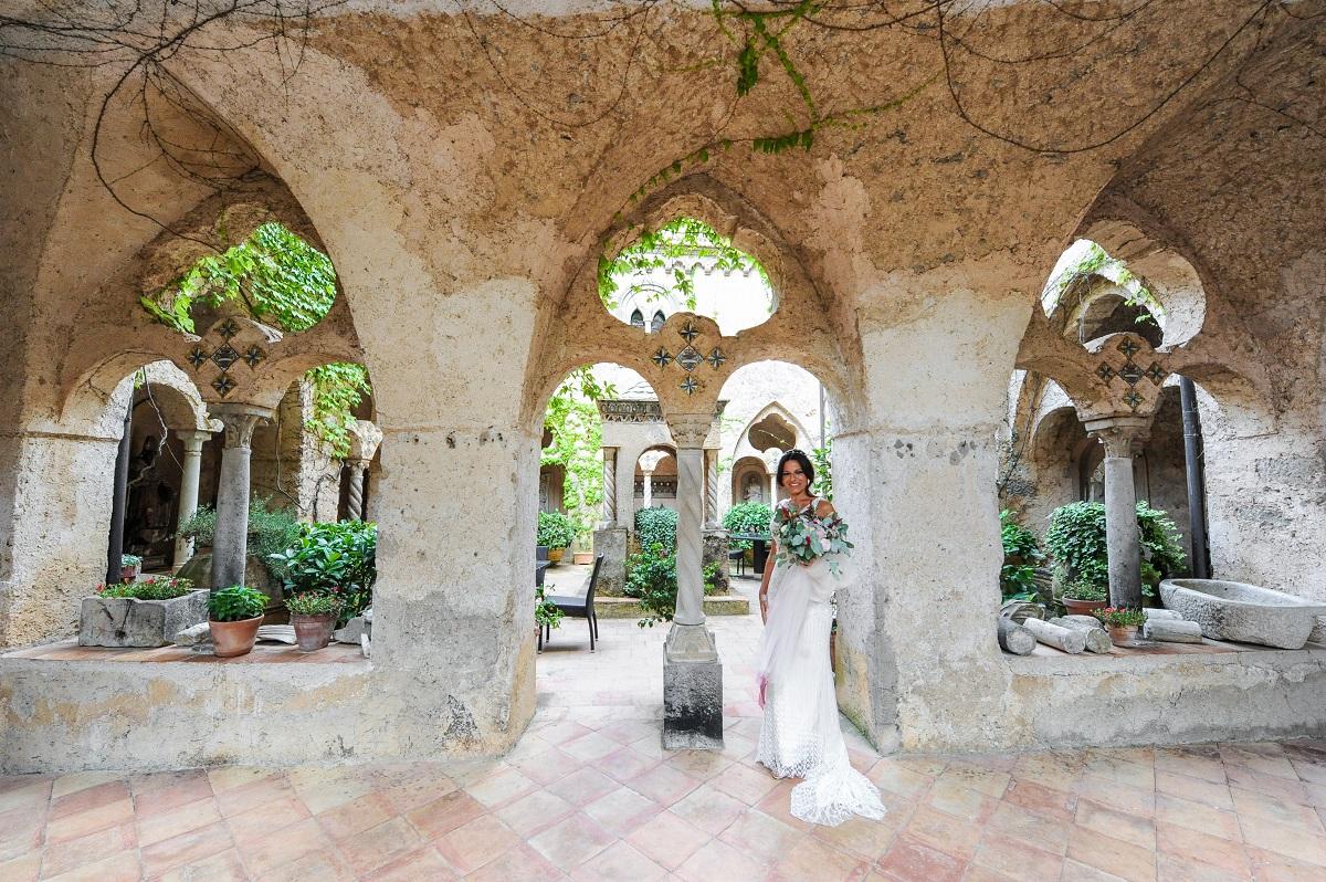 Daniela the bride in Villa Cimbrone - Ravello wedding