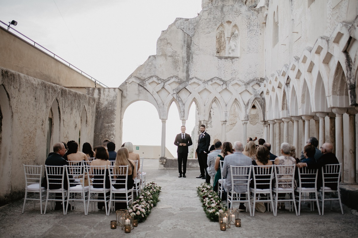 Shannon and Ross Wedding in Amalfi -the civil ceremony at NH