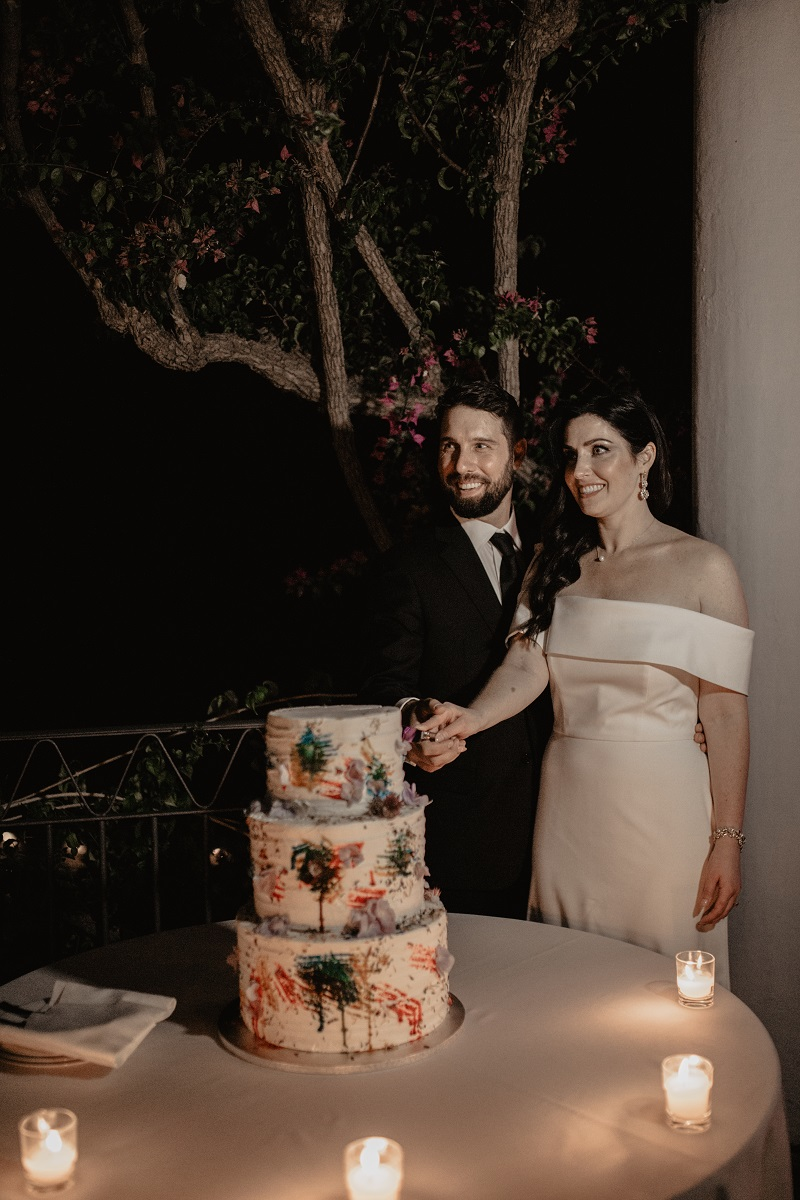 Shannon and Ross Wedding in Amalfi -wedding cake