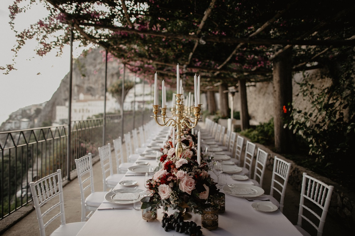 Shannon and Ross Wedding in Amalfi - wedding imperial table