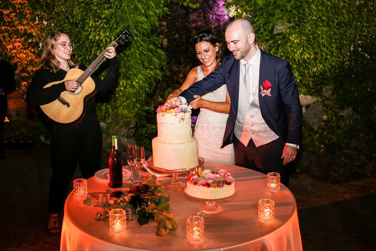 the wedding cake Daniela and Andrea Ravello wedding