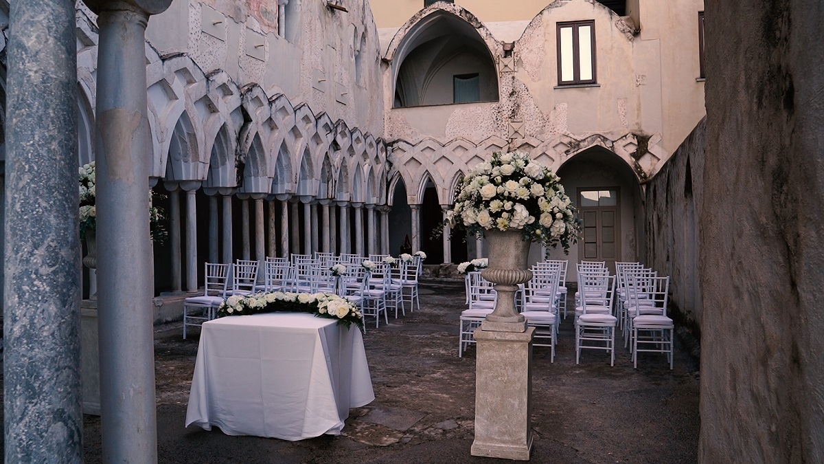 NH Amalfi Chiostro ready for the marriage