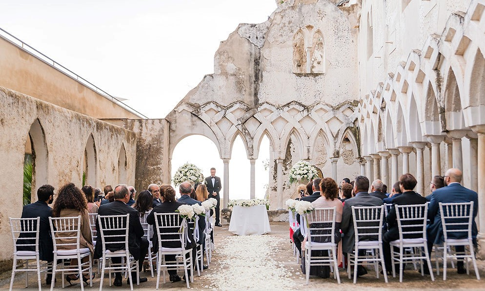 NH Amalfi Chiostro wedding ceremony