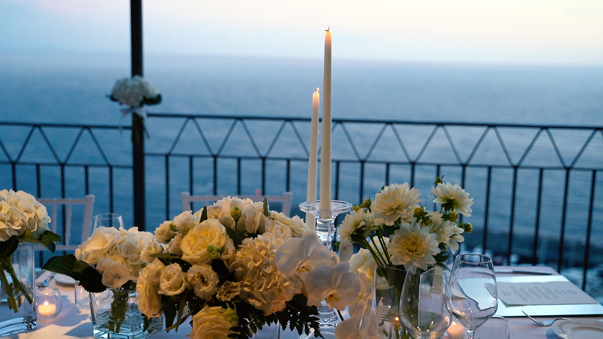 wedding table with seaview