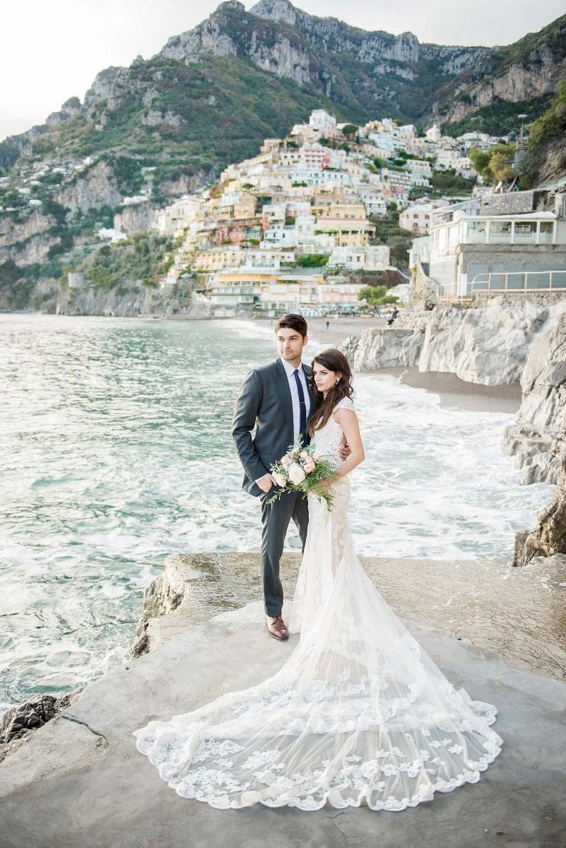 Jessica & Stephen got married in Positano Amalfi Coast Italy