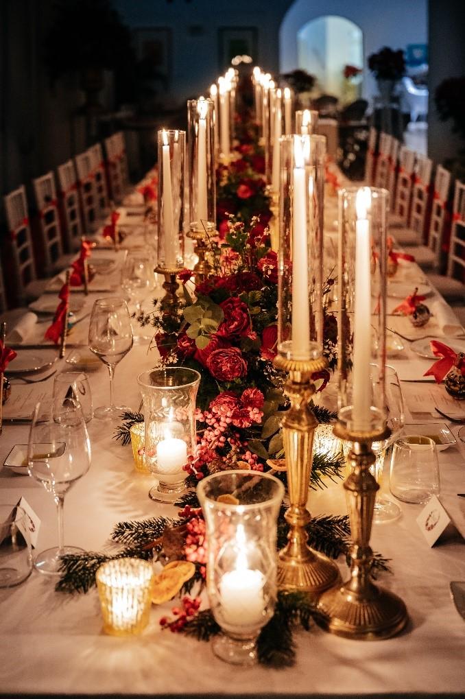 xmas wedding table