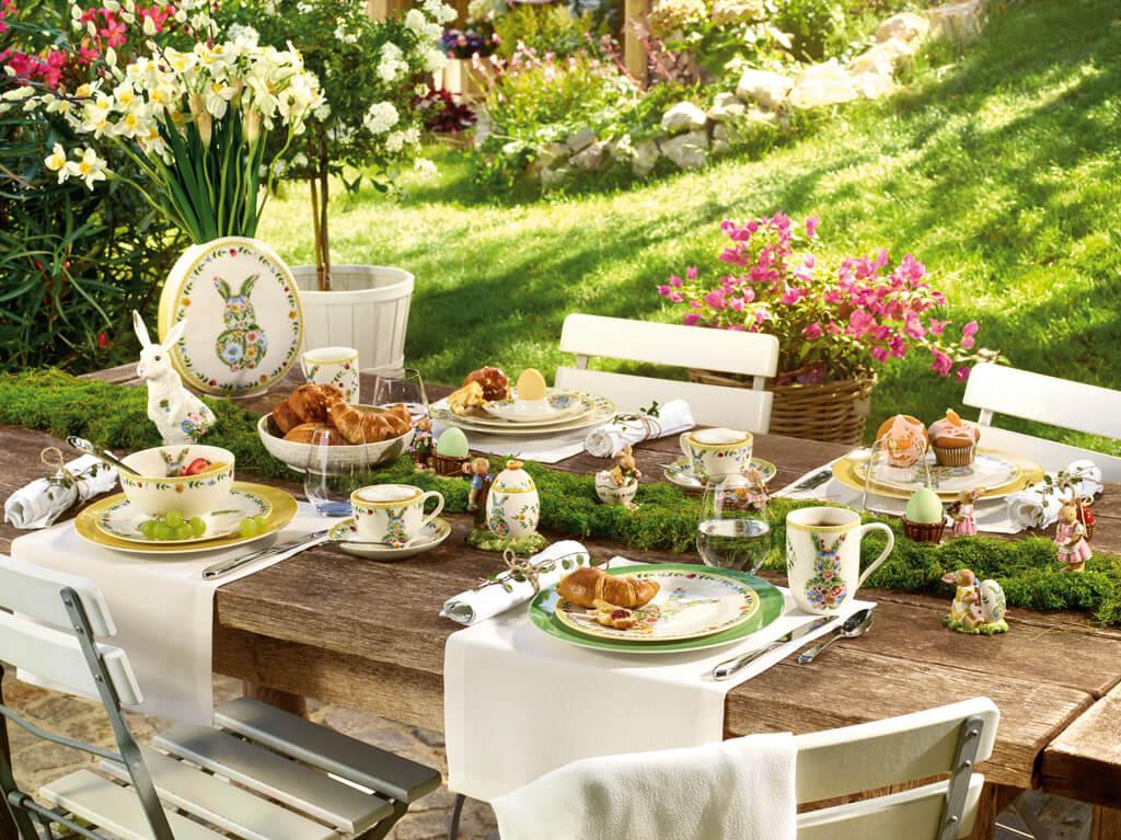 Easter lunch outdoor in the garden