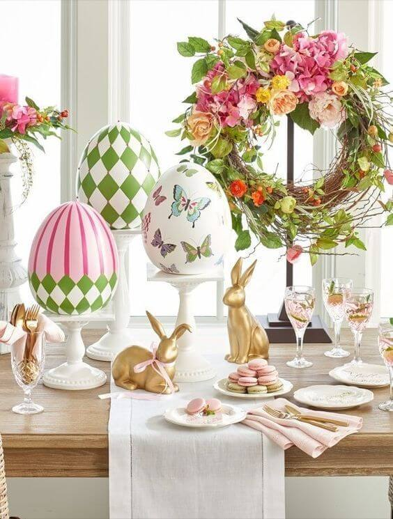 Easter sweets table setting idea inspiration
