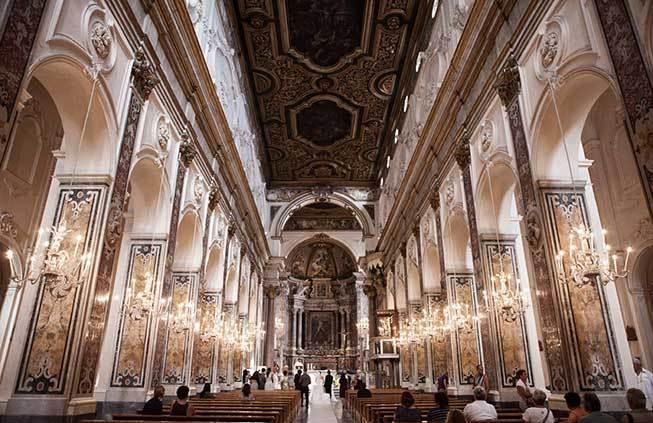 Interior of Amalfi Chatedral