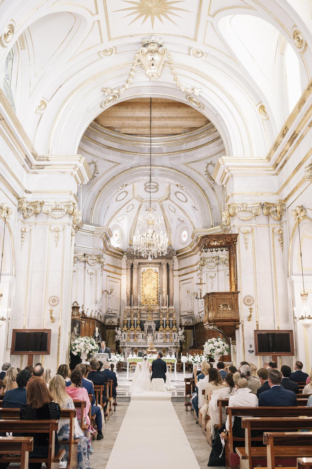 Interior of Positano cathedral