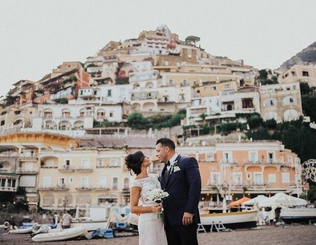 Luxury weddings on the Amalfi Coast Mr and Mrs wedding in Italy