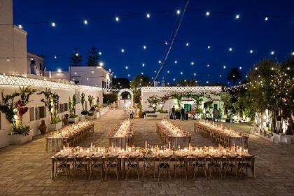 Masseria boho chic wedding in Italy Mr and Mrs wedding in Italy