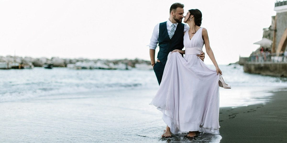 Atrani Beach. Wedding Planner in Amalfi Coast and Puglia. Mr and Mrs Wedding in Italy